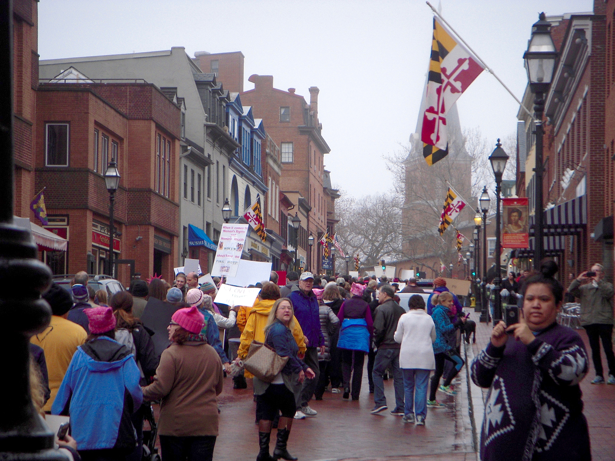 march on Annapolis, MD state capital